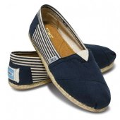 Эспадрильи University Navy Rope Sole синие Toms
