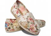 Эспадрильи Classic Shabby Chic Flower Canvas Toms