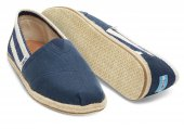 Эспадрильи University Stripe  Navy Classics Toms