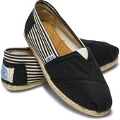 Эспадрильи University Black Rope Sole черные Toms