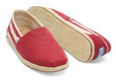 Эспадрильи University Stripe Red Classics Toms