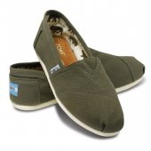 Эспадрильи Classic Olive Canvas Toms